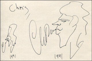 CHARLES FLEISCHER - SELF-CARICATURE DOUBLE SIGNED 1991