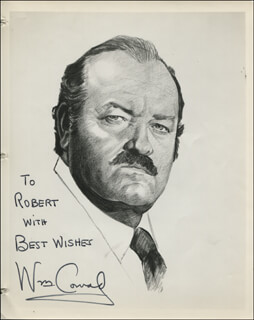 WILLIAM CONRAD - INSCRIBED PRINTED ART SIGNED