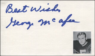 GEORGE McAFEE - AUTOGRAPH SENTIMENT SIGNED