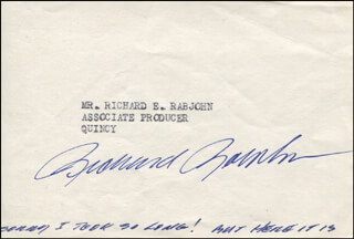 RICHARD RABJOHN - AUTOGRAPH SENTIMENT SIGNED