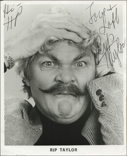RIP TAYLOR - INSCRIBED PRINTED PHOTOGRAPH SIGNED IN INK