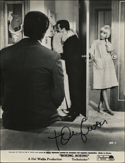 TONY CURTIS - PRINTED PHOTOGRAPH SIGNED IN INK