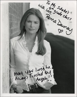 ROMA DOWNEY - AUTOGRAPHED INSCRIBED PHOTOGRAPH