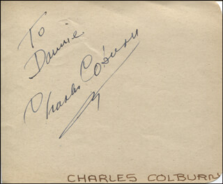 CHARLES D. COBURN - INSCRIBED SIGNATURE
