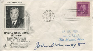 Autographs: JOHN ASHCROFT - FIRST DAY COVER SIGNED
