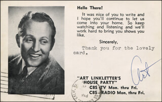 ART LINKLETTER - PICTURE POST CARD SIGNED