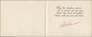 PETER HANSON - CHRISTMAS / HOLIDAY CARD SIGNED CIRCA 1954