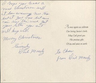 DICK MOSELY - AUTOGRAPH NOTE DOUBLE SIGNED CIRCA 1976
