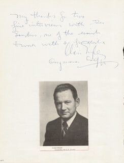 Autographs: CLAIR ENGLE - AUTOGRAPH NOTE SIGNED CO-SIGNED BY: WILLIAM J. TUTTLE, WENDELL HOLMES