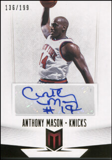 ANTHONY MASON - TRADING/SPORTS CARD SIGNED
