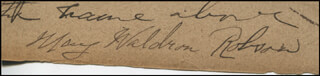 MAY MRS. STUART ROBSON WALDRON ROBSON - CLIPPED SIGNATURE