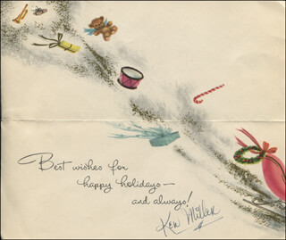 KEN MILLER - CHRISTMAS / HOLIDAY CARD SIGNED CIRCA 1957
