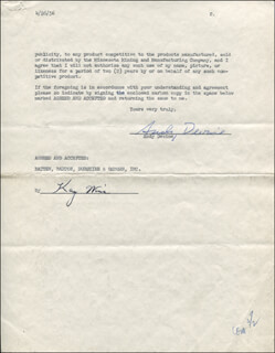 ANDY DEVINE - CONTRACT SIGNED 04/26/1956