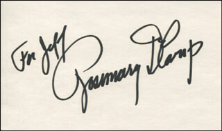 ROSEMARY DECAMP - INSCRIBED SIGNATURE