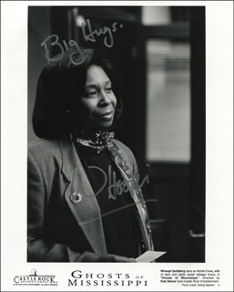 WHOOPI GOLDBERG - PRINTED PHOTOGRAPH SIGNED IN INK
