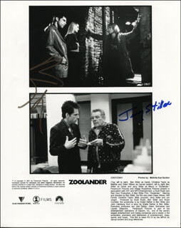 ZOOLANDER MOVIE CAST - PRINTED PHOTOGRAPH SIGNED IN INK CO-SIGNED BY: JERRY STILLER, BEN STILLER