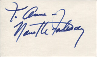NANETTE FABRAY - INSCRIBED SIGNATURE