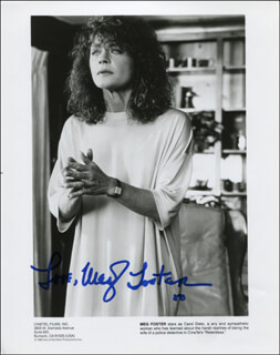 MEG FOSTER - PRINTED PHOTOGRAPH SIGNED IN INK
