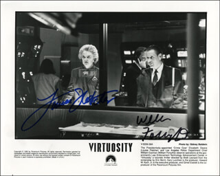VIRTUOSITY MOVIE CAST - PRINTED PHOTOGRAPH SIGNED IN INK CO-SIGNED BY: LOUISE FLETCHER, WILLIAM FORSYTHE