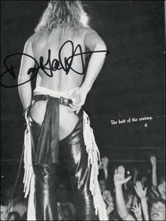 DAVID LEE ROTH - MAGAZINE PHOTOGRAPH SIGNED