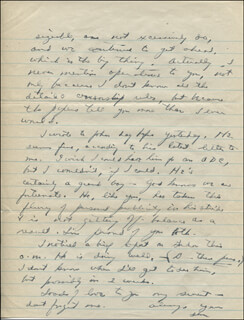 PRESIDENT DWIGHT D. EISENHOWER - AUTOGRAPH LETTER SIGNED