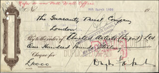 DOUGLAS FAIRBANKS SR. - AUTOGRAPHED SIGNED CHECK 03/09/1936