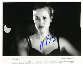 MARIA BELLO - PRINTED PHOTOGRAPH SIGNED IN INK