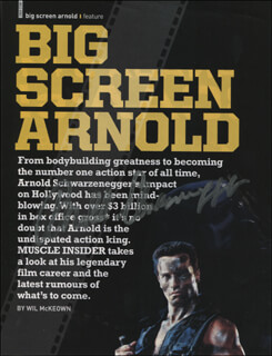 ARNOLD SCHWARZENEGGER - MAGAZINE ARTICLE SIGNED