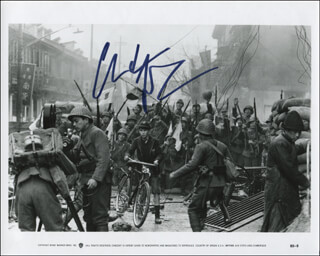 CHRISTIAN BALE - PRINTED PHOTOGRAPH SIGNED IN INK