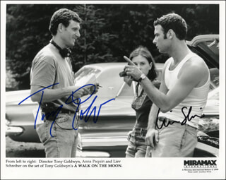 Autographs: A WALK ON THE MOON MOVIE CAST - PRINTED PHOTOGRAPH SIGNED IN INK CO-SIGNED BY: TONY GOLDWYN, LIEV SCHREIBER