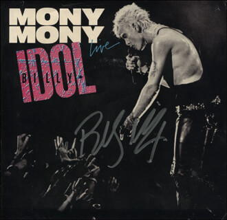BILLY IDOL - RECORD ALBUM COVER SIGNED