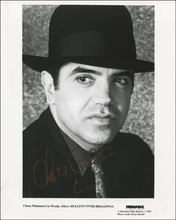 CHAZZ PALMINTERI - PRINTED PHOTOGRAPH SIGNED IN INK