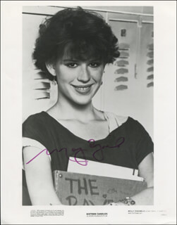 MOLLY RINGWALD - PRINTED PHOTOGRAPH SIGNED IN INK