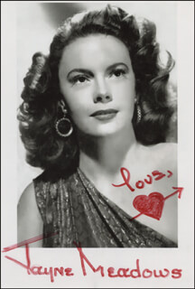 JAYNE MEADOWS - AUTOGRAPHED SIGNED PHOTOGRAPH