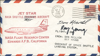 LT. COMMANDER DONALD L. MALLICK - FIRST DAY COVER SIGNED CO-SIGNED BY: COLONEL RAY (WILLIAM RAY) YOUNG