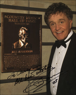 BILL WHISPERING BILL ANDERSON - AUTOGRAPHED INSCRIBED PHOTOGRAPH