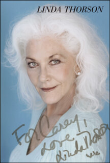 LINDA THORSON - INSCRIBED PRINTED PHOTOGRAPH SIGNED IN INK