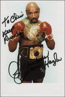 MARVELOUS MARVIN HAGLER - AUTOGRAPHED INSCRIBED PHOTOGRAPH