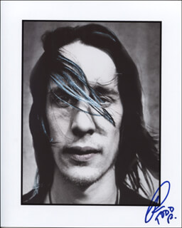 TODD RUNDGREN - AUTOGRAPHED SIGNED PHOTOGRAPH