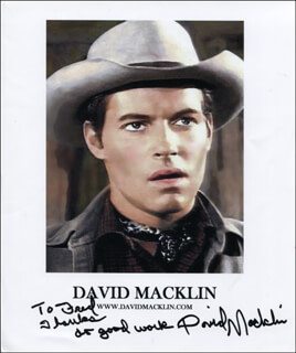 DAVID MACKLIN - INSCRIBED PRINTED PHOTOGRAPH SIGNED IN INK