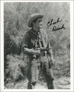 CHARLES DIERKOP - AUTOGRAPHED SIGNED PHOTOGRAPH