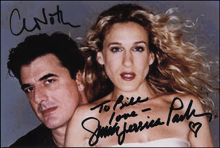 SEX AND THE CITY TV CAST - AUTOGRAPHED INSCRIBED PHOTOGRAPH CO-SIGNED BY: SARAH JESSICA PARKER, CHRIS NOTH