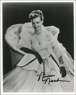 NOREEN NASH - AUTOGRAPHED SIGNED PHOTOGRAPH