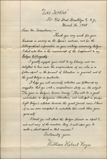 WILLIAM HOBART ROYCE - AUTOGRAPH LETTER SIGNED 03/16/1948