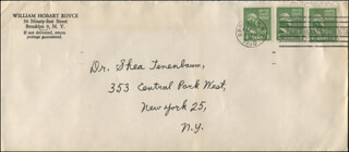 WILLIAM HOBART ROYCE - AUTOGRAPH ENVELOPE UNSIGNED CIRCA 1950