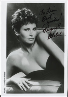 RAQUEL WELCH - AUTOGRAPHED INSCRIBED PHOTOGRAPH
