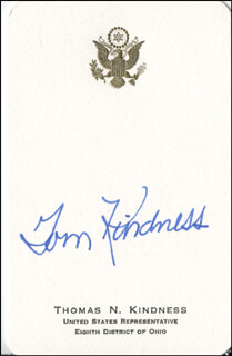 TOM N. KINDNESS - CALLING CARD SIGNED