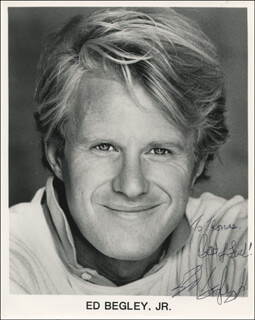 ED BEGLEY JR. - INSCRIBED PRINTED PHOTOGRAPH SIGNED IN INK