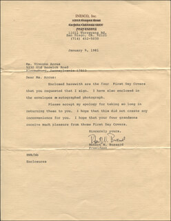 Autographs: ROBERT W. BUSSARD - TYPED LETTER SIGNED 01/09/1981