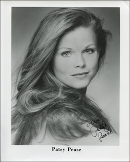 PATSY PEASE - PRINTED PHOTOGRAPH SIGNED IN INK